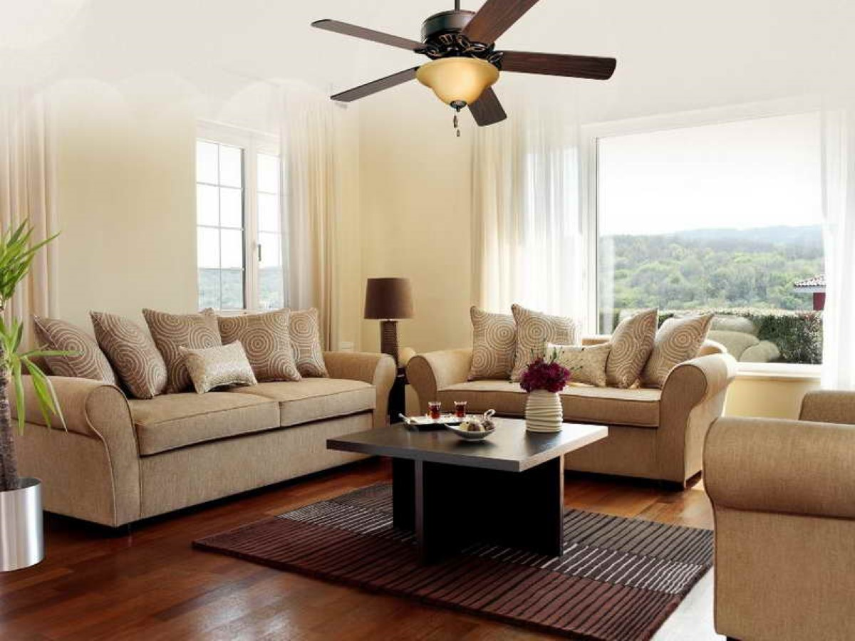 Choosing the right ceiling fan for your living room diy - Living room ceiling fan ...